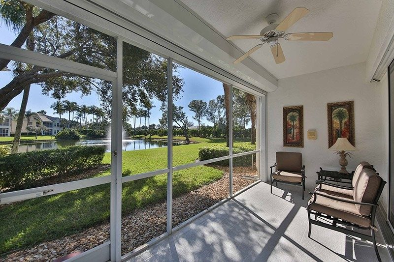 porch view of Lely Resort condo rental