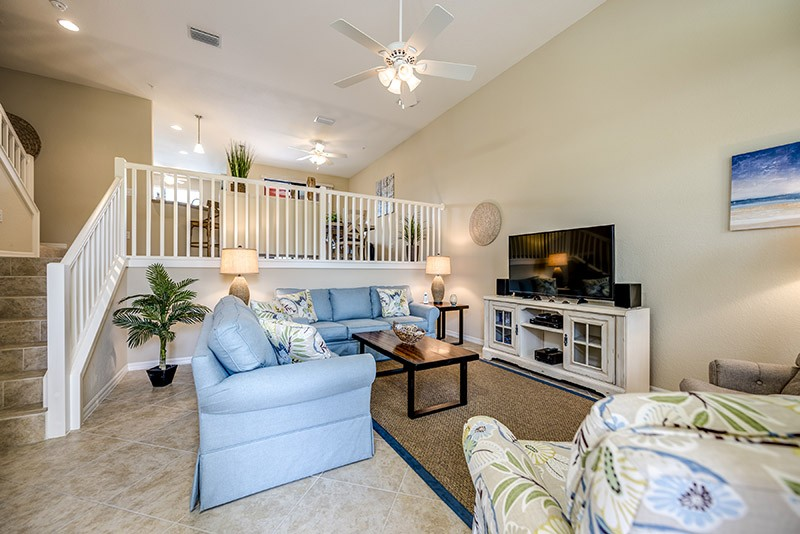 luxurious living room in a vacation rental