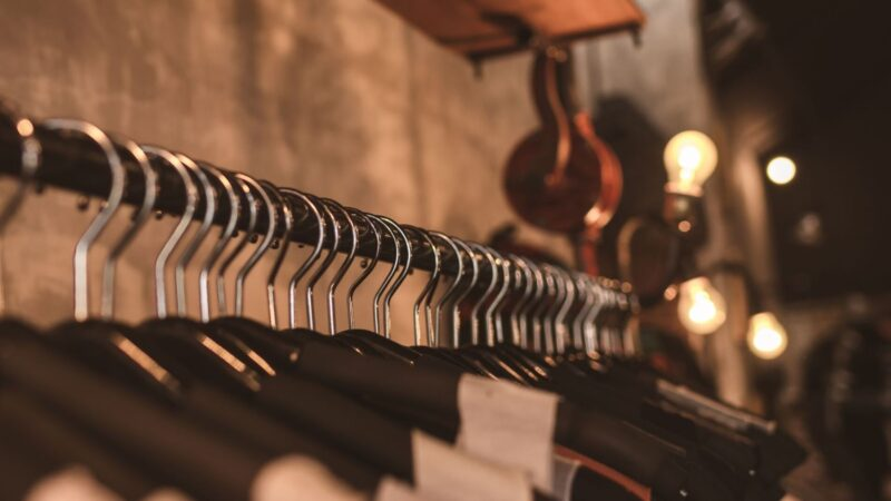 upscale mens clothing on the rack near our lely resort vacation rentals