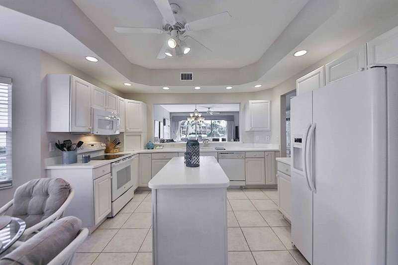 beautiful kitchen in our 2 bedroom lely resort rentals