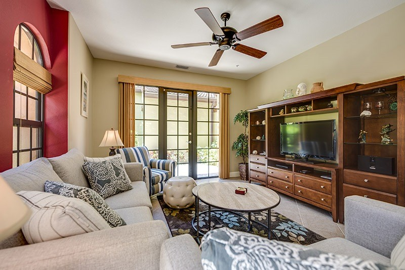 Nice and cozy living room in our two bedroom lely resort